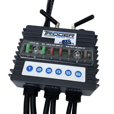 TRIGGER 3001 TRIGGER RELAY SYSTEM 6 SWITCH, 6 HARNESS, RF/BLUETOOTH