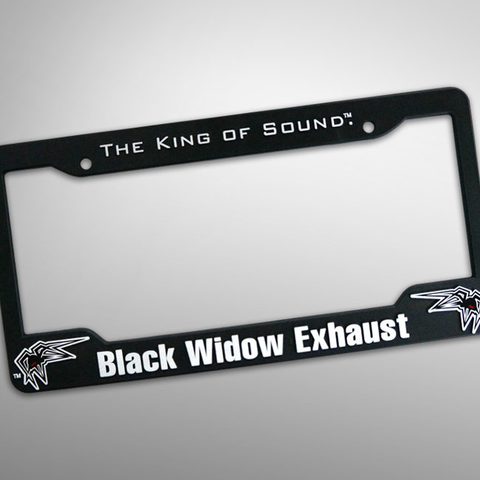 Black Widow License Plate Frame