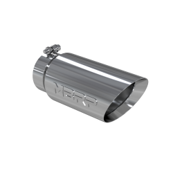 "MBRP T5053 T304 Stainless Steel Tip; 5"" OD Dual Wall Angled 4"" inlet 12"" length"