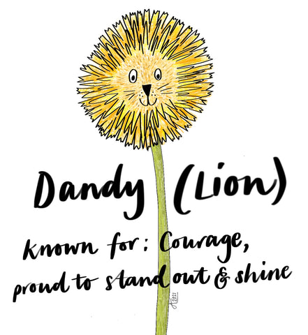 Dandy Lion by Alice Draws the Line