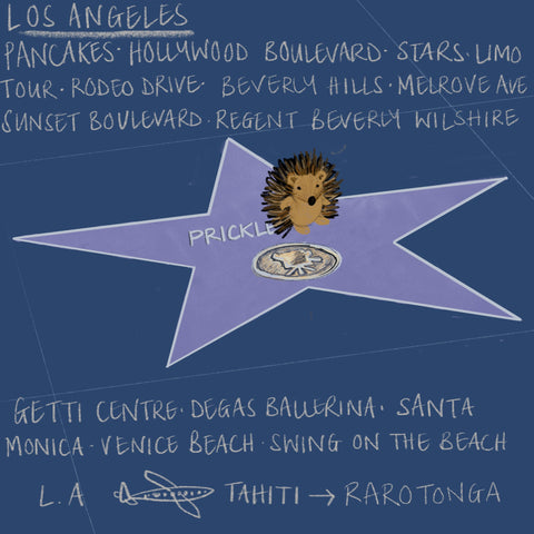 Los Angeles with Prickle the Hedgehog by Alice Draws The Line
