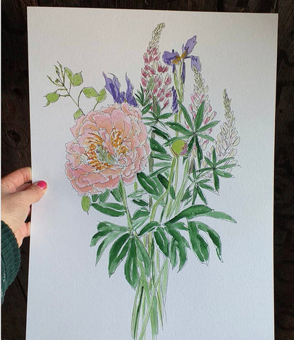 May bouquet by Alice Draws the Line