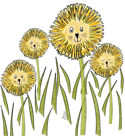 Dandelions together by Alice Draws the Line