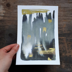 Grey and gold abstract by Alice Draws the Line 2