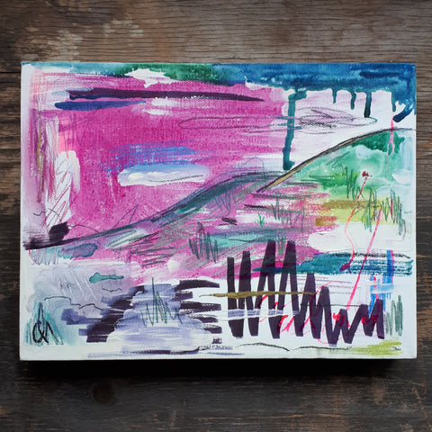 Alice Draws The Line abstract on canvas 1