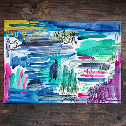 Alice Draws the Line Abstract piece, Colours of Joy 2019