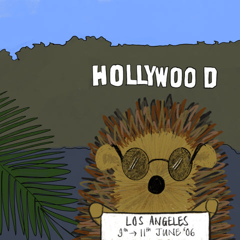 Prickle The Hedgehog in Los Angeles by Alice Draws The Line