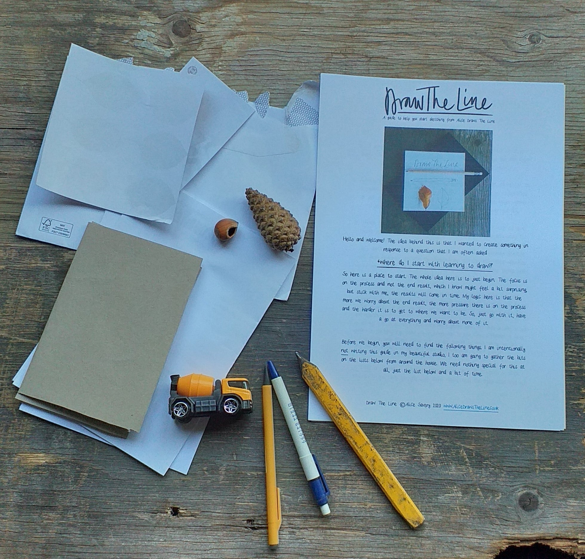 Draw the Line, a beginner's guide to drawing by Alice Draws the Line