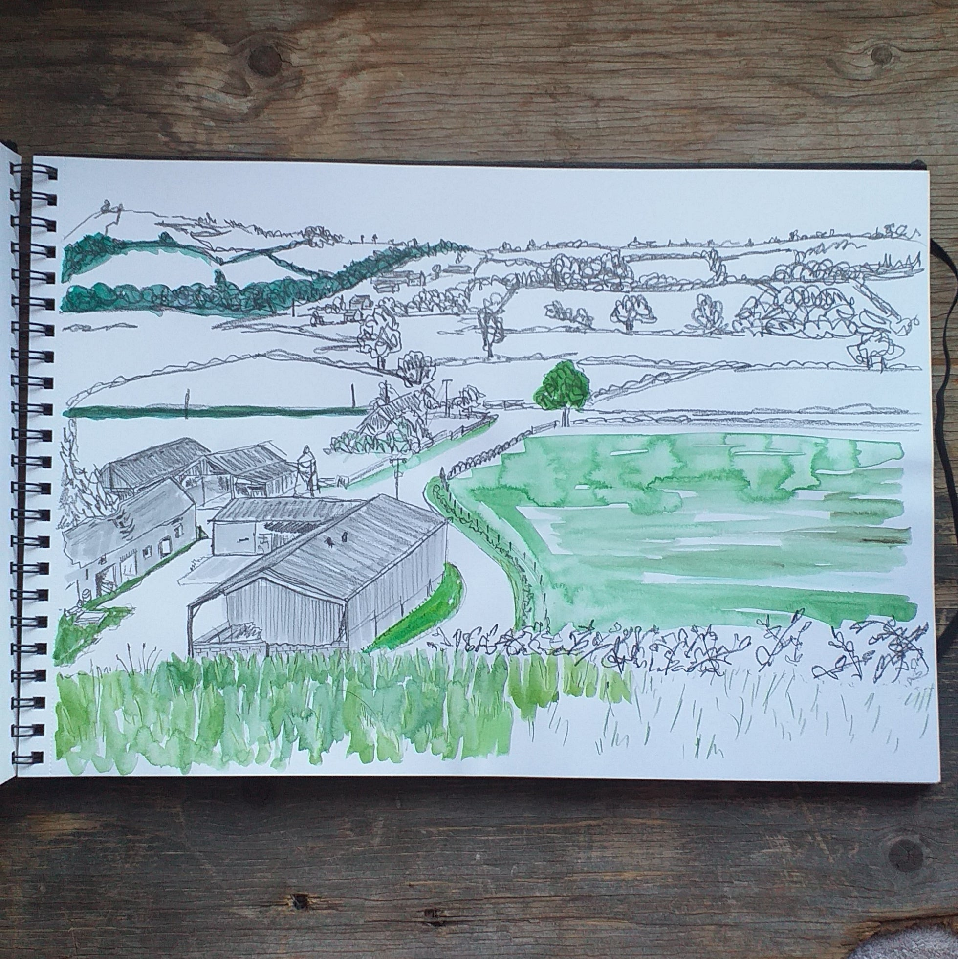 Sketching the view from the B&B by Alice Draws the Line