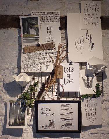 Inspiration station by Alice Draws the Line a mood board of all the things that inspire me at the moment