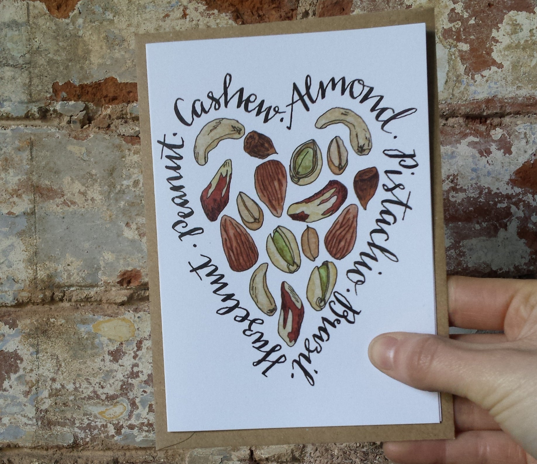 Nuts about You! Valentine's day card by Alice Draws the Line, Palentine's day card, galentine's day ard