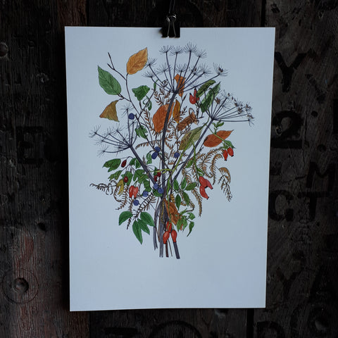 October Hedgerow appreciation bouquet by Alice Draws The Line