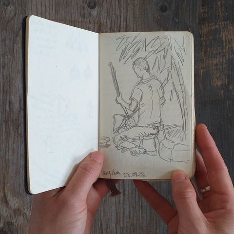 Musician in China, Alice Draws The Line Travel Sketchbook 2006