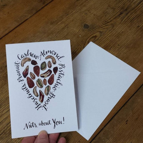 Nuts about You, starting out by Alice Draws the Line, sending a valentine's card