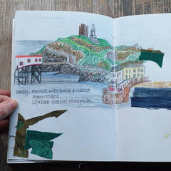 Tenby Harbour by Alice Draws the Line Mixed media