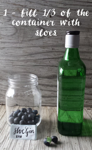 How to make Sloe gin by Alice Draws The Line stage one