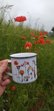 Load image into Gallery viewer, Rainbow Flowers Enamel Mug