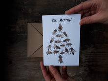 Load image into Gallery viewer, Bee Merry! Christmas Card/s