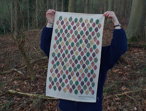 Beech Leaf Tea Towel