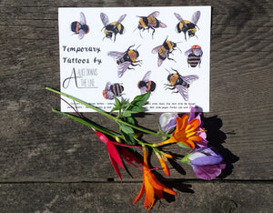Bee Temporary Tattoos by Alice Draws The Line