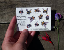 Load image into Gallery viewer, Bee Temporary Tattoos by Alice Draws The Line