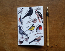 Load image into Gallery viewer, Garden Birds Notebook by Alice Draws The Line, A6 with 36 plain pages, recycled paper