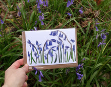 Load image into Gallery viewer, spring flowers greeting card collection, bluebells, snowdrops and daffodils by Alice Draws The Line