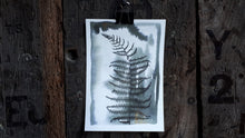 Load image into Gallery viewer, Black ink bracken study A5