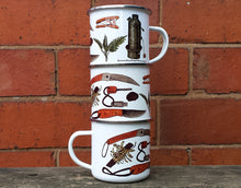 Load image into Gallery viewer, Bushcraft Enamel Mug Design