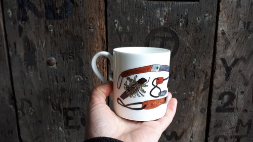 Bushcraft china mug by Alice Draws the Line