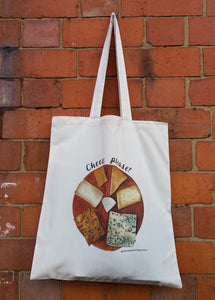 Cheese Please tote bag by Alice Draws the Line. Cheese board Illustration for any Cheese fans