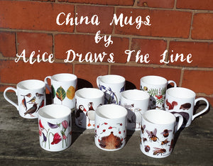 China mug designs by Alice Draws The Line
