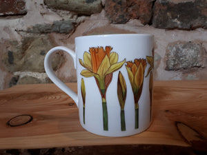 Daffodils China Mug by Alice Draws the Line