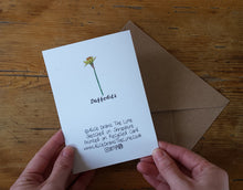Load image into Gallery viewer, Daffodil Mother's Day Greeting card by Alice Draws the Line, recycled card