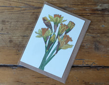 Load image into Gallery viewer, Daffodil Greeting card by Alice Draws the Line, recycled card Easter day