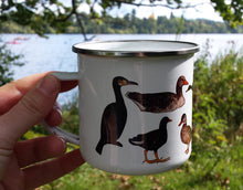 Load image into Gallery viewer, Ducks and Friends Enamel Mug Design