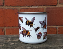 Load image into Gallery viewer, Bumble Bee enamel mug by Alice Draws The Line