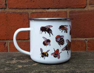 Bees enamel mug by Alice Draws The Line