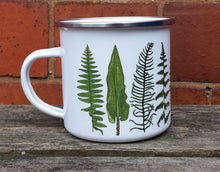 Load image into Gallery viewer, Fern enamel mug by Alice Draws The Line Mother's day gift, enamel mug