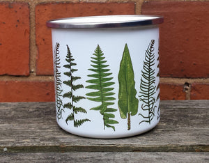 Fern enamel mug by Alice Draws The Line Mother's day gift, enamel mug