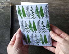 Load image into Gallery viewer, Ferns and Bracken Notebook by Alice Draws The Line, A6 with 36 plain pages, recycled paper