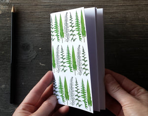 Ferns and Bracken Notebook by Alice Draws The Line, A6 with 36 plain pages, recycled paper
