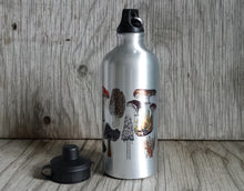 Load image into Gallery viewer, Fungi Water bottle by Alice Draws The Line, illustrated water bottle, mushroom water bottle,