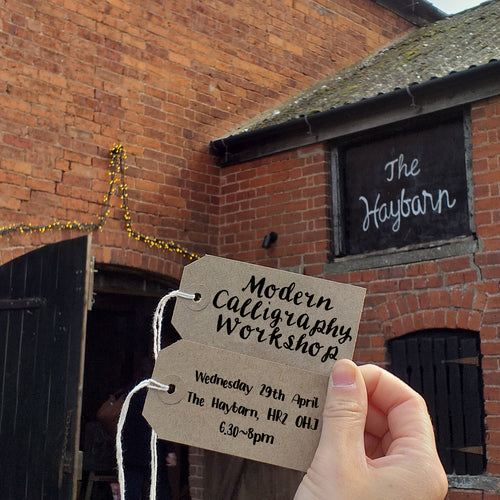 Modern Calligraphy Workshop:: Wed 29th April, The Haybarn, Dulas, Nr Hereford
