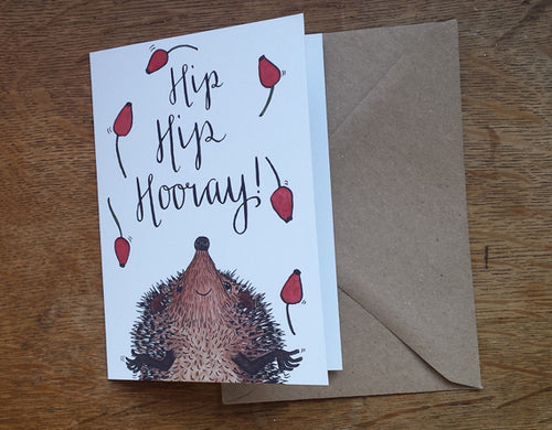 Hip Hip Hooray card by Alice Draws The Line