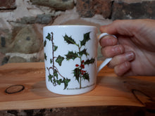 Load image into Gallery viewer, Holly and Ivy China mug by Alice Draws The Line
