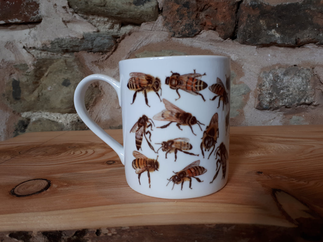 Honey Bee China mug by Alice Draws The Line