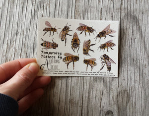 Honey Bee Temporary Tattoos by Alice Draws The Line