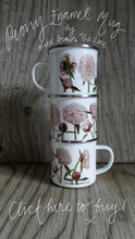 Load image into Gallery viewer, Peony China mug by Alice Draws The Line, pink peonies