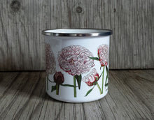 Load image into Gallery viewer, Peony Enamel mug by Alice Draws The Line